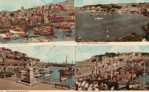 Brixham Devon Fishing Boats 4x 1970s Postcards