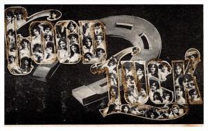 21920  Good Luck Horsehoe Women inside the letters l