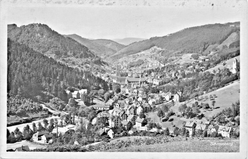 SCHRAMBERG BADEN WURTTEMBERG GERMANY-TOTALSICHT 1930 PHOTO POSTCARD