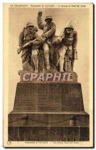 Old Postcard In Champagne Navarino From Monument Group of Real del Sarte Army