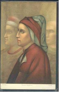 pc6049 postcard Stengel Dante Alighieri MOBSC