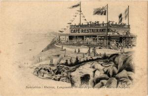 CPA AK ROTHÉNEUF - Café Restaurant aux rochers sculptés (285535)
