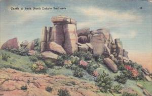 North Dakota Badlands Castle Of Rocks 1944