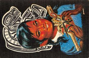 Alaska Indians Little Girl With Rattle Antique Postcard K431038
