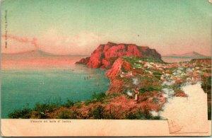 Carte Postale Vintage - Vesuvio Edition Isola Prof' Lschia - Stengel & Co Entier