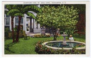 Charleston, S.C., Courtyard View, St. John Hotel