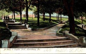 Pennsylvania Harrisburg A Walk In Capitol Park 1907