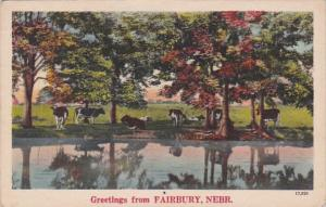 Nebraska Greetings From Fairbury 1947
