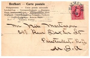 21581 Sweden Cancell Halmstad om a 10 Ore Stamp