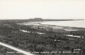 RP, ST. IGNACE, Michigan, 1930-1940s; Rabbit Back Peak from Castle Rock