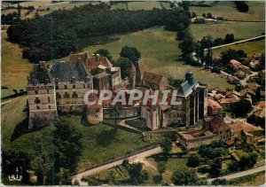 Postcard Modern Castles Biron in Perigord from the Sky