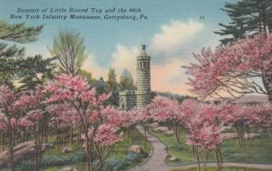 Flowering Trees at Little Round Top - Gettysburg PA, Pennsylvania - Linen