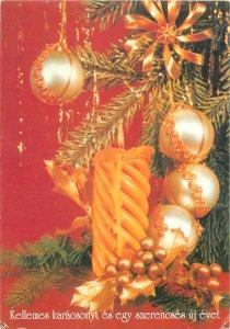 Holidays candle globes christmas decoration tree  Postcard