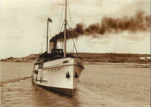 Postcard Published by Rail Photo Print Scillonian steamer ship leave St Marys