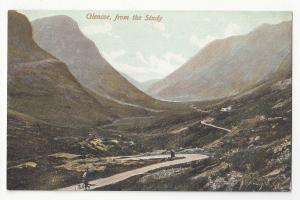 Scotland Glencoe from the Study Argyll Vtg Wane Caledonia Series Postcard c1910