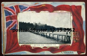 2562 - YARMOUTH Nova Scotia 1910s Patriotic Flag. Bay View Park by Warwick