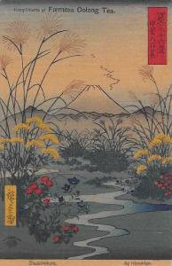 Japan Otsukinohara by Hiroshige, Formosa Oolong Tea Advertising
