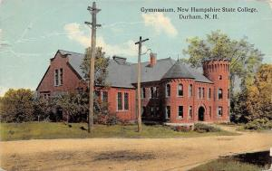 Durham New Hampshire~State College~Dirt Road by Gymnasium~1913 Postcard