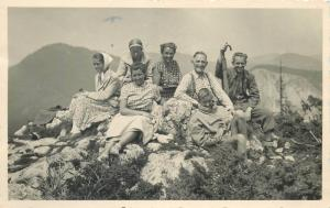 Photo dated 1958 Romania trippers backnote Gyilkos ( Lacul Rosu )