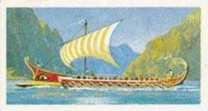 Brooke Bond Tea Vintage Trade Card Transport Through The Ages 1966 No 10 Galley