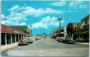 Watch Hill, Rhode Island Postcard Business Section Downtown Street Scene 1950s