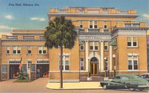 Albany Georgia City Hall Street View Antique Postcard K68701