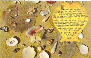 US Unused. Massachusetts. Sea shells by the sea shore.