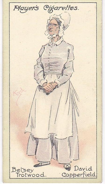 Cigarette Cards Players Characters From Dickens No 36  Betsey Trotwood