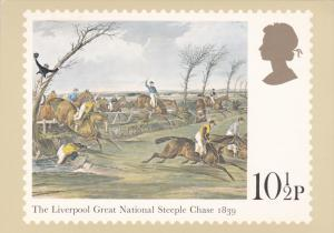 Stamps Of Great Britain Horse Racing The Liverpool Great National Steeple Cha...