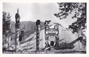 RP: Entrance to Chief's Shakes House , WRANGELL , Alaska , 30-40s