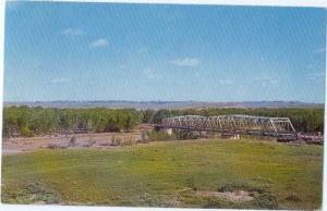 Bridge Crossing Powder River at Broadus Montana MT 1962