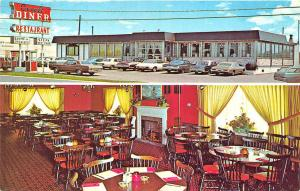 Flemington NJ Circle Diner Multi-View Old Cars Postcard