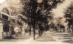 Michigan Mi Real Photo RPPC Postcard 1908 MORENCI S Summit St Homes Gattiell