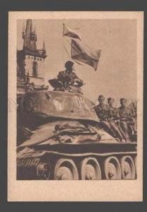 084977 WWII TANK RED ARMY in Czechoslovakia Vintage PC #16