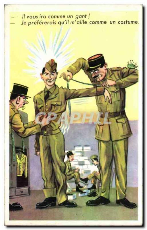 Old Postcard Militaria Humor