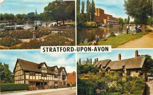 1970 Shakespeare Stratford Upon Avon Holy Trinity Anne Hathaway Postcard UK