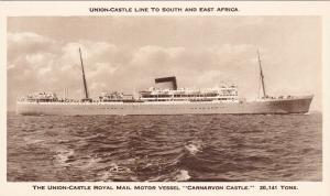 Carnarvon Castle - Union Castle Line - 10 - 30´s , South & East Africa Route