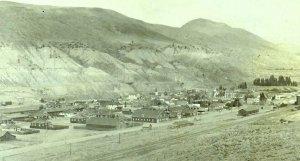 Circa 1905-10 RPPC Bird's Eye view Ashcroft, BC B. Norton Real Photo Postcard F1