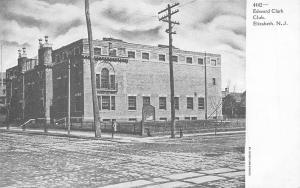 Elizabeth New Jersey~Edward Clark Club~Cobblestone Street~Trolley Tracks~1905 PC