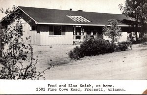 Arizona Prescott Home Of Fred and Elsa Smith Pine Cove Road 1964