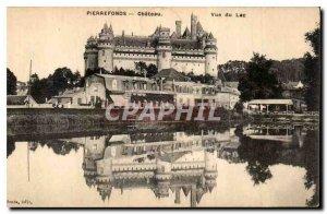 Old Postcard Pierrefonds Chateau Lake View