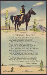Cowboy Prayer Postcard