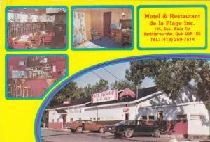 Views of Motel & Restaurant de la Plage Inc., Berthier-sur-Mer,  Quebec,  Can...
