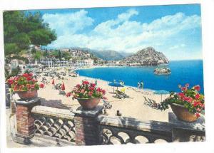 TAORMINA, Beach of Mazzaro seen from the Terrace of the Villa St. Andrea, Mes...