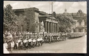 Mint Germany Real picture Postcard RPPC Berlin Militar Parade March