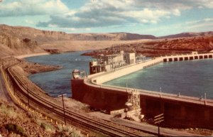 Washington Rock Island Dam Below Wenatchee 1941
