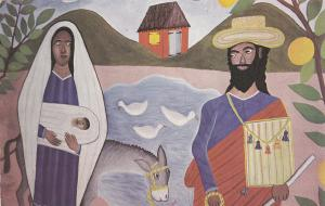 Flight into Egypt Mural , Episcopal Catherdral , Port-au-Prince , Haiti , 50-60s