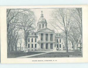 Pre-1902 PRIVATE MAILING CARD - VERY EARLY VIEW OF STATE HOUSE Concord NH G2621