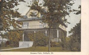 DeKalb Illinois~Northern Illinois University~Benson Club House~1910 Postcard