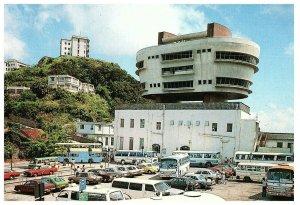 Peak Tower Restaurant Tour Buses Cars 1970s Hong Kong Postcard circa 1999